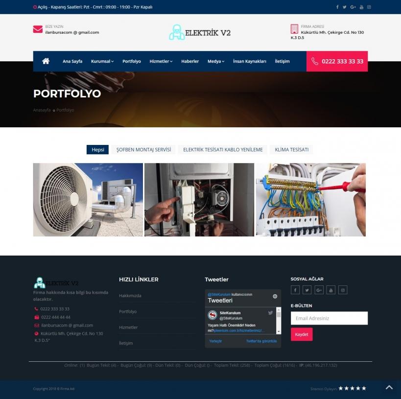 Elektrikçi Scripti - Elektrikçi Sitesi - Elektrikçi Web Sitesi - Elektrikçi Firma Web Sitesi