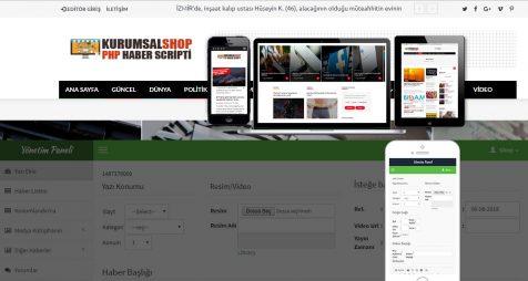 Gelişmiş haber scripti / Blog Scriptisizlerle. Bu scripti ile Haber sitesi veya Blog sitesi oluşturabilirsiniz. Tüm arama motorlarına göre (Seo) ve Adsense uyumlu haber yazılımı /blog yazılımı'dır.