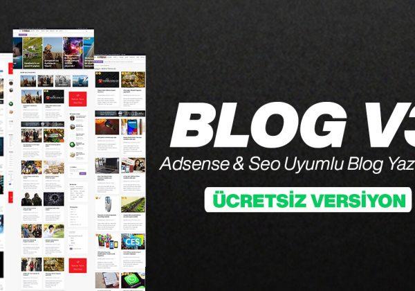Seo & Adsense Uyumlu Blog Scripti V3 - Ücretsiz Versiyon